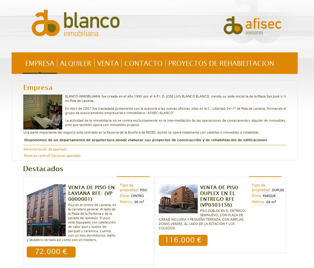 Afisec Blanco Inmobiliaria