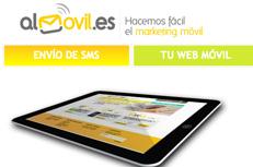 Logotipo de web accesible almovil.com para servicios de marketing movil sms