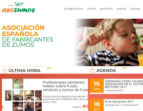 desarrollo web asociación Asozumos