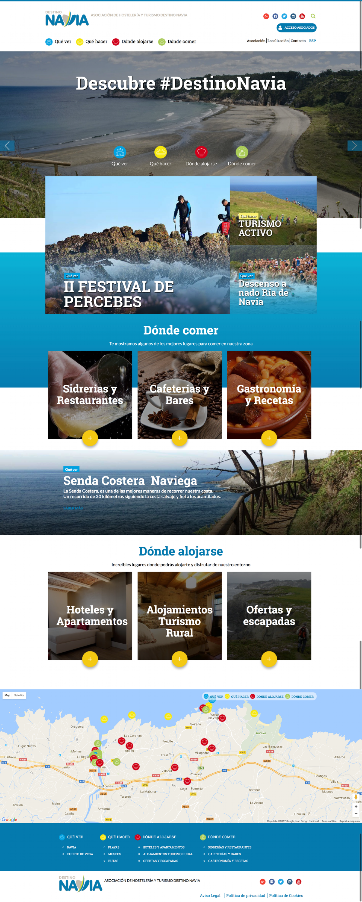 desarrollo web portal turismo Destino Navia Turismo