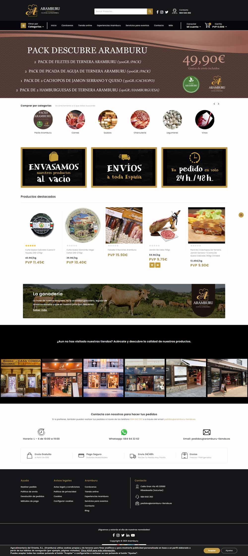 screenshot aramburu tienda