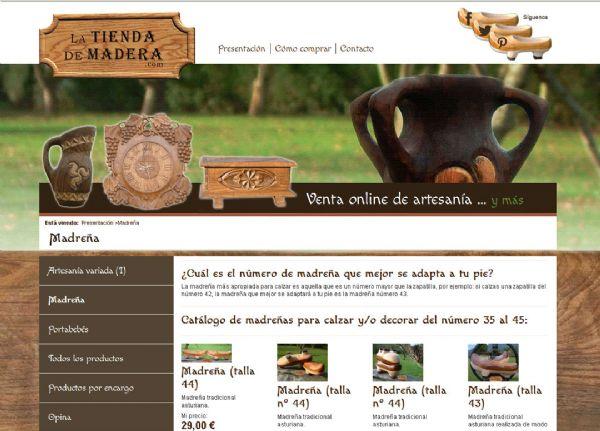 Web de La tienda de madera