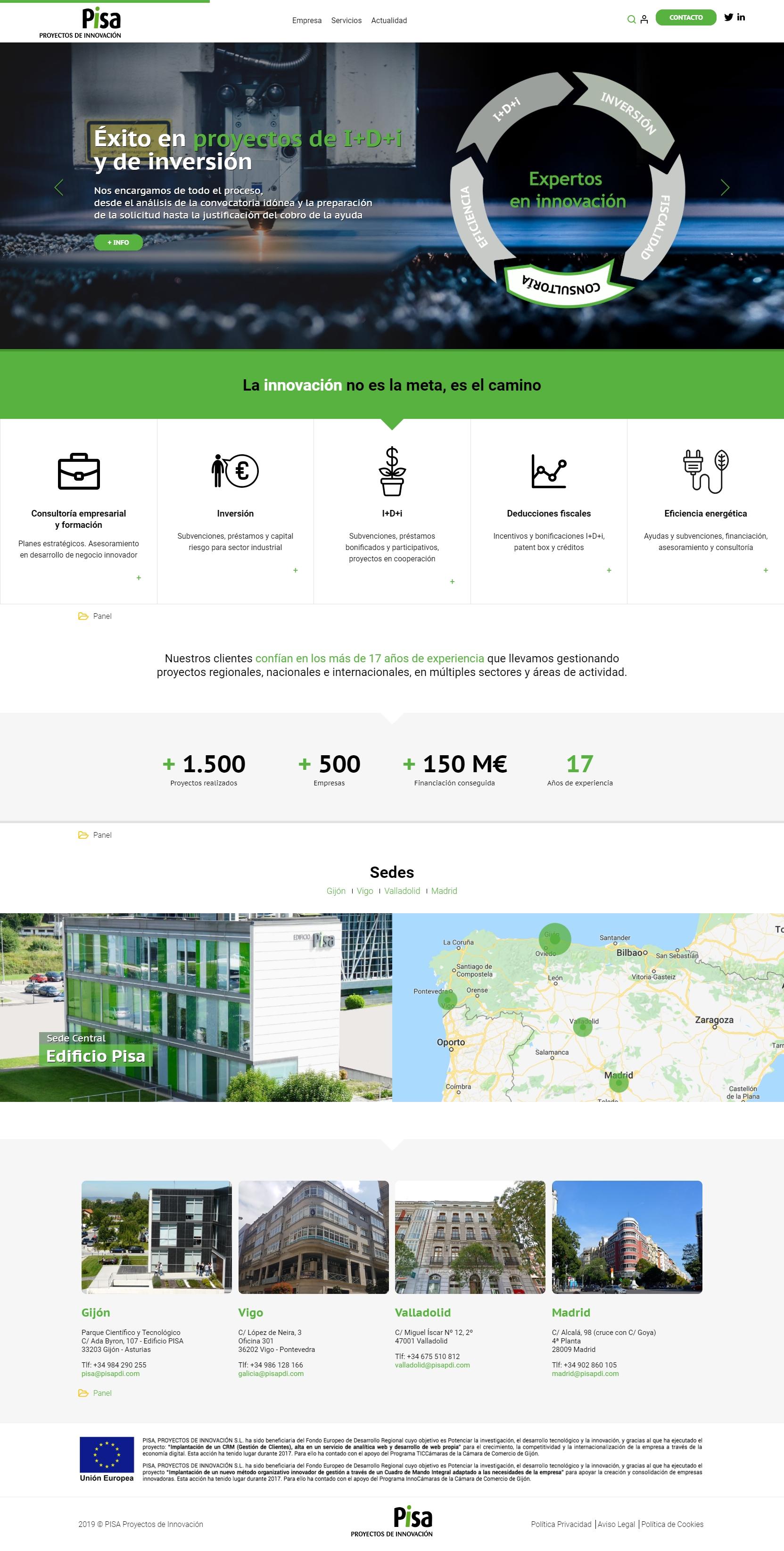 Web Pisa Proyectos de Innovación
