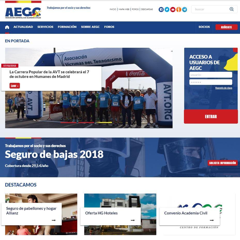 web asociación española de guardias civiles