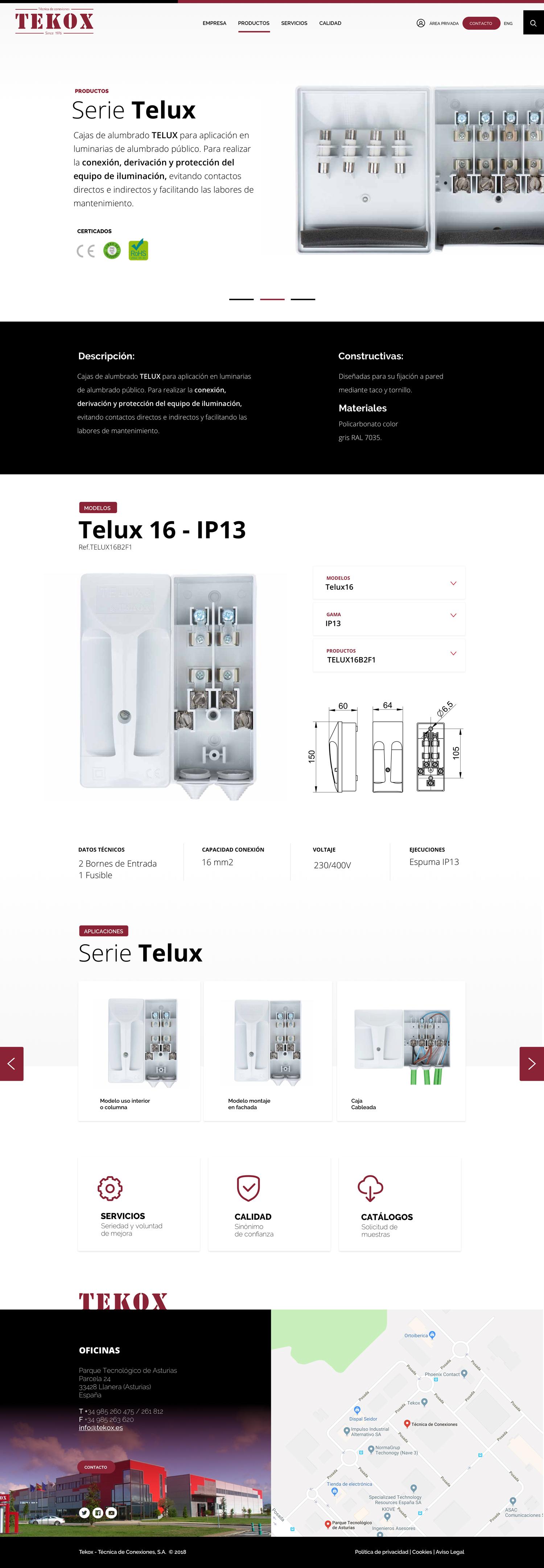 Técnica de Conexiones Tekox catalogo de productos