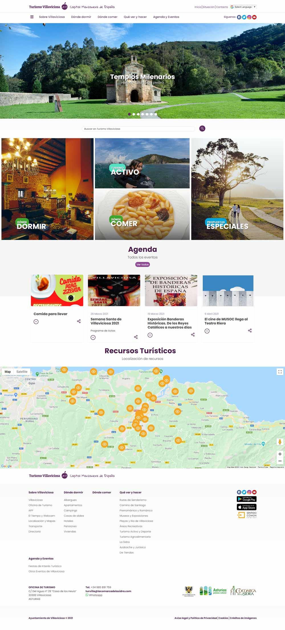 Web de Turismo de Villaviciosa